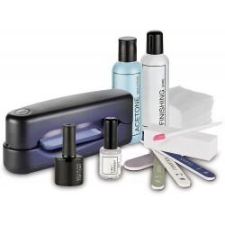Sada pro gelovou manikúru s UV lampou Macom Sensation 205 UV, černá