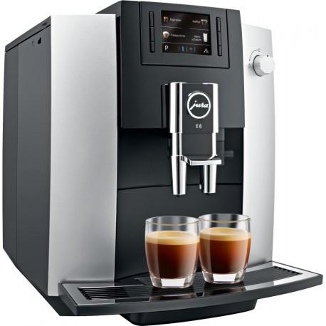 Automatický espreso kávovar Jura E6, 1450 W,  stříbrná