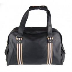 Cestovní černá taška sportovního typu do ruky a na rameno