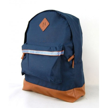 Modrý školní batoh s trendy prvky