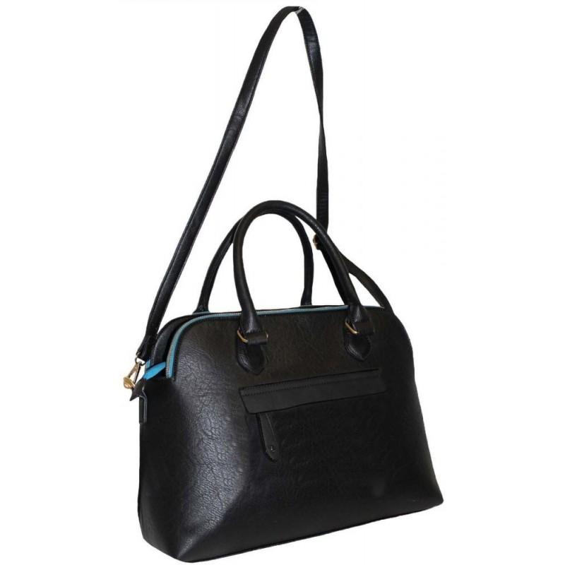 Černá elegantní kufříková kabelka na zip Adleys