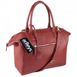 Vínově červená kabelka netradičního tvaru