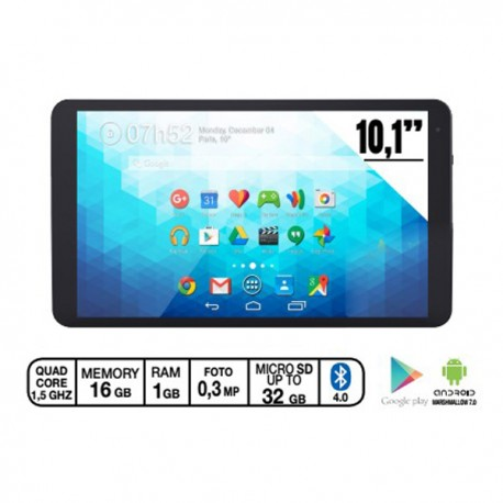 "10,1"" Tablet BlueTech, Quad-core, Andoird 6.0, 8GB flash, 1GB DDR III"