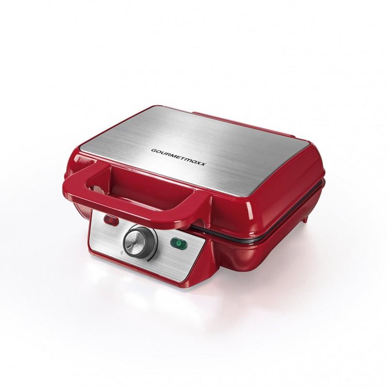 Vaflovač Gourmetmaxx 1000W - červená