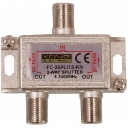 Pasivní anténní rozbočovač König - FC-2SPLT-ST-KN, 5-2400 MHz 6.5 dB - 2x výstup
