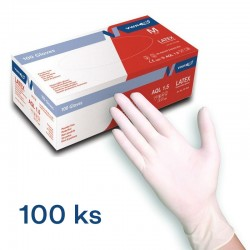 Latexové jednorázové rukavice VWR 100ks - L