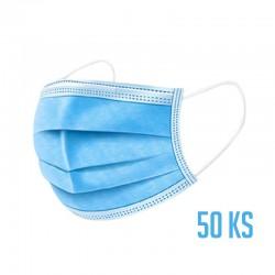 Ochranná 3-vrstvá rouška z netkané textilie - 50 ks