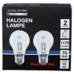 Halogenová žárovka Tec Star 2ks 42 Watt