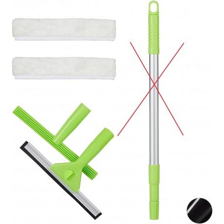 4 dílná sada na čištění oken Relaxdays 10025056_53, zelená