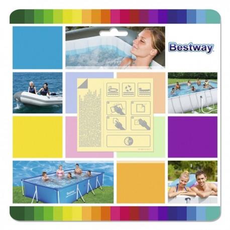 Samolepící záplaty na bazény a čluny Bestway BW62091, 9ks