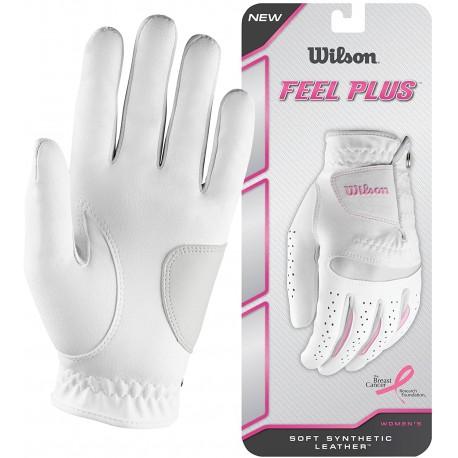 Dámské rukavice Wilson Feel Plus, bílorůžové