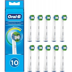 Náhradní hlavice zubního kartáčku Braun Oral-B 4210201321699 Precision Clean - 10 ks, bílá