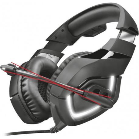 Herní sluchátka Trust Doox GXT 380 (bez mikrofonu), černá