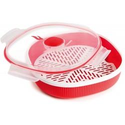 Plastová dóza do mikrovlnné trouby Snips - 2l, červená