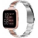 Náhradní ocelový řemínek Wearlizer pro hodinky Fitbit, růžová