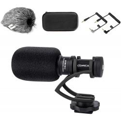 Externí směrový mikrofon pro smartphone i kameru Comica Audio CVM-VM10II, černá