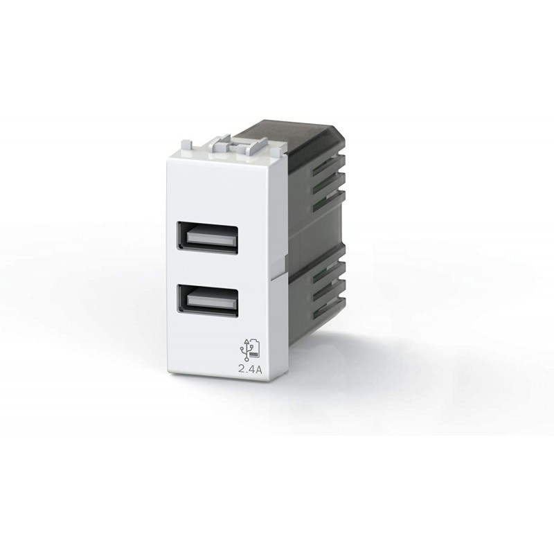 Nástěnná USB zásuvka USB 4Box, 2 x USB výstup - 2,4 A Ostatní