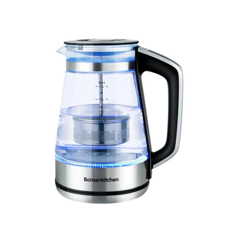 Rychlovarná konvice s regulací teploty a nádobkou na sypaný čaj Bonsenkitchen EK8905 - 1.7 Bonsenkitchen