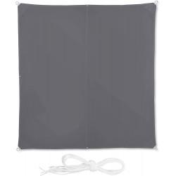 Čtvercová stínící plachta Relaxdays10026356978, 3 x 3 m, šedá