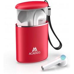 Bezdrátová sluchátka s nabíjecím pouzdrem Acadgq GQ04, červená