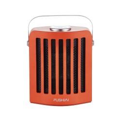 Přenosný přímotop a ventilátor 2v1 Fushiai FSA-201, 950 W - oranžová