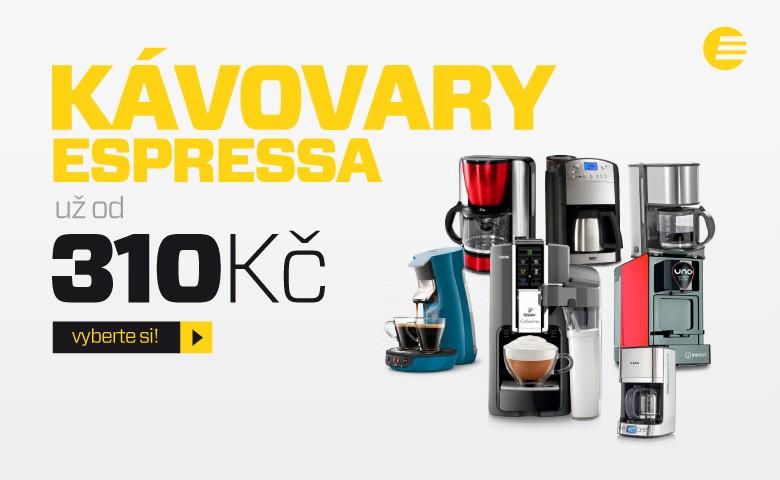 Kávovary už od 310 Kč